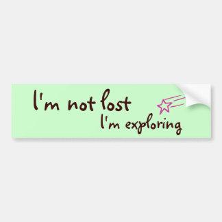 Me no pierden yo estoy explorando etiqueta de parachoque