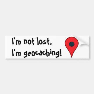 ¡Me no pierden, yo geocaching! pegatina para el Pegatina Para Auto