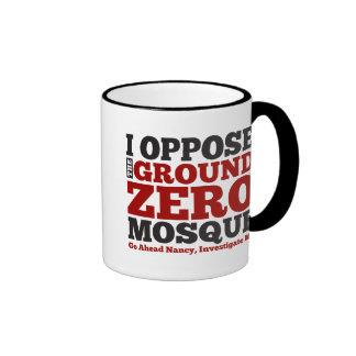 Me opongo a la mezquita del punto cero tazas de café