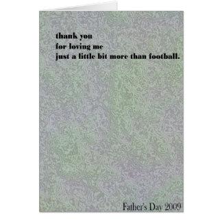 me or football? card