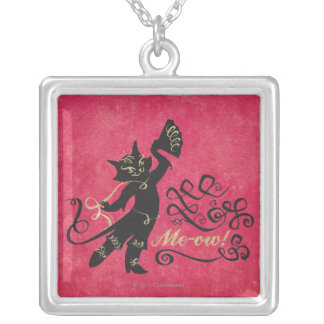 Me-ow! Silver Plated Necklace