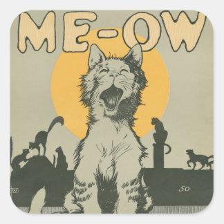 Me-ow Square Sticker