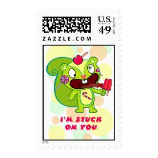 Me pegan en usted timbres postales