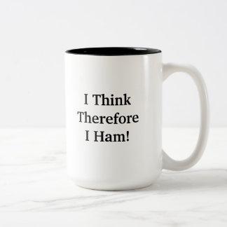 ¡Me pienso por lo tanto personalizar de la taza