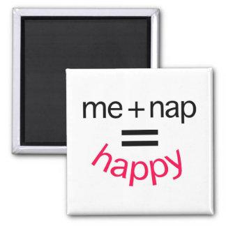 Me Plus Nap Equals Happy Refrigerator Magnet