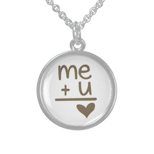Me Plus You Equals Love Doodle Necklace