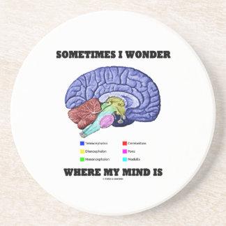 Me pregunto a veces donde está mi mente (el humor posavaso para bebida