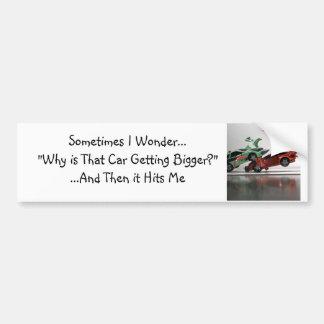 Me pregunto a veces… pegatina para auto