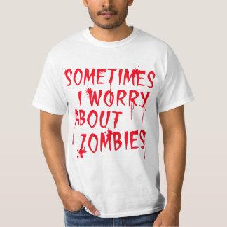 Me preocupo de zombis remera