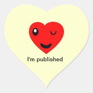 Me publican pegatina en forma de corazón