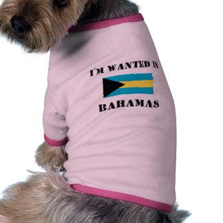 Me quieren en Bahamas Camiseta Con Mangas Para Perro