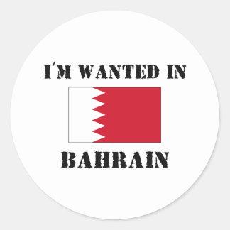 Me quieren en Bahrein Pegatina Redonda