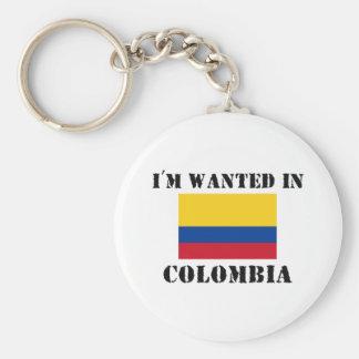 Me quieren en Colombia Llavero Redondo Tipo Pin