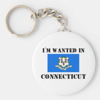 Me quieren en Connecticut Llavero Redondo Tipo Pin
