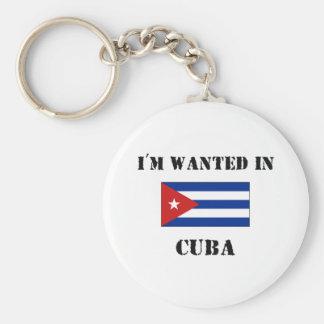 Me quieren en Cuba Llavero Redondo Tipo Pin
