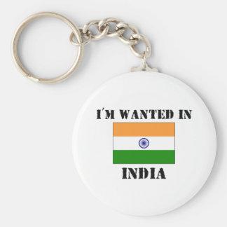 Me quieren en la India Llavero Redondo Tipo Pin