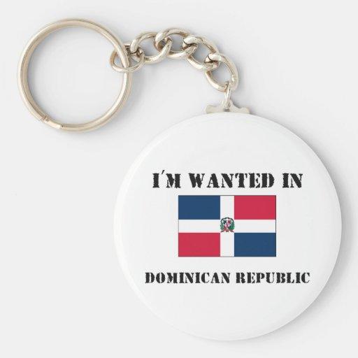 Me quieren en la República Dominicana Llavero Redondo Tipo Pin