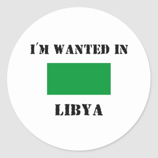 Me quieren en Libia Etiquetas Redondas