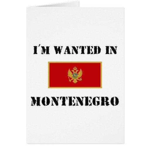 Me quieren en Montenegro Tarjetas