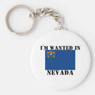 Me quieren en Nevada Llavero Redondo Tipo Pin