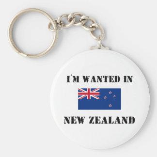 Me quieren en Nueva Zelanda Llavero Redondo Tipo Pin