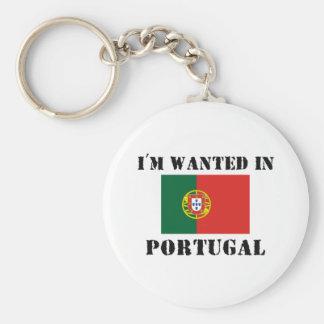 Me quieren en Portugal Llavero Redondo Tipo Pin