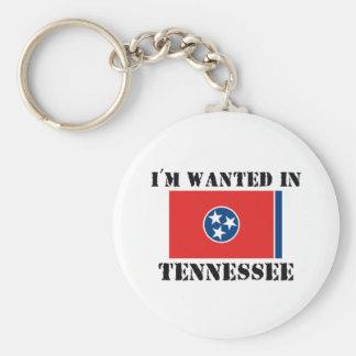 Me quieren en Tennessee Llavero Redondo Tipo Pin