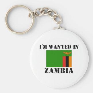 Me quieren en Zambia Llavero Redondo Tipo Pin