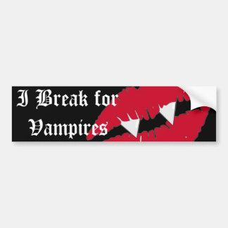 Me rompo para los labios rojos de los vampiros de  pegatina de parachoque
