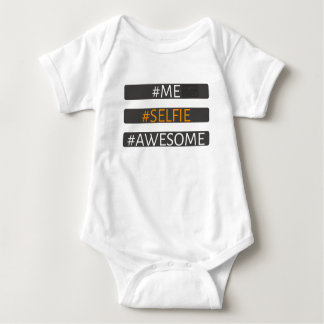 Me Selfie Awesome Picture Camera Social Media Baby Bodysuit