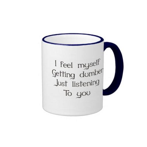 Me siento el conseguir apenas de escuchar más mudo tazas de café