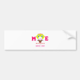Me Since 2017-Cute Monkey-Morocko Bumper Sticker