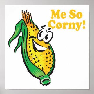 Me SO Corny  corn  cob Poster