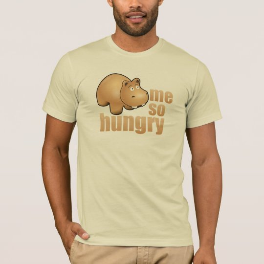 me so hungry funny hippo mens t-shirt