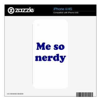 Me so nerdy skins for the iPhone 4S