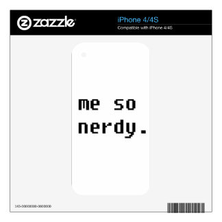 Me so nerdy iPhone 4S decal