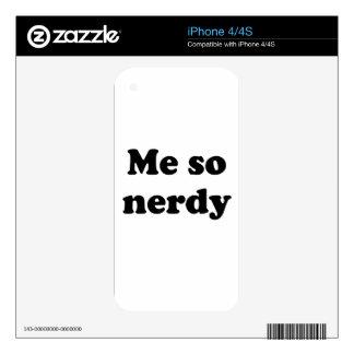 Me so nerdy iPhone 4S skin