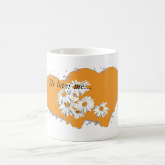 me sulks, he loves me not with he loves coffee mug