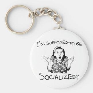 ¿Me suponen ser socializado? Llavero Redondo Tipo Pin