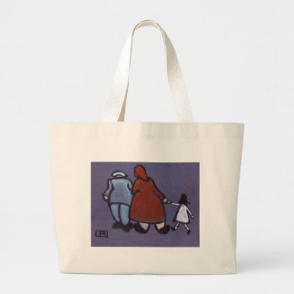 me the wife and kid large tote bag
