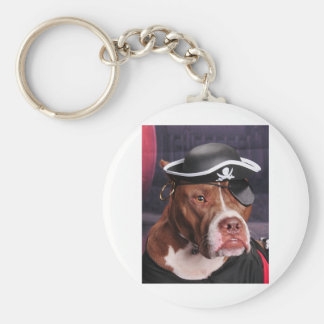 Me thinks I'm a Pirate! Basic Round Button Keychain