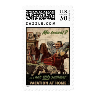 Me Travel Not This Summer Vacation At Home Postage