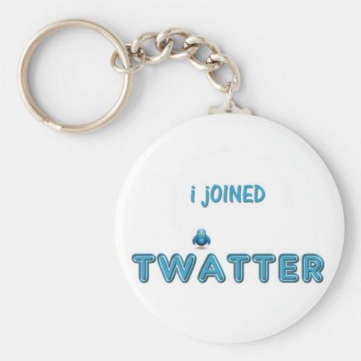 Me uní a Twatter Llaveros