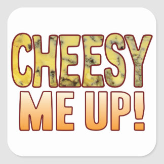 Me Up Blue Cheesy Square Sticker