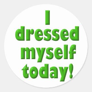 Me vestí hoy pegatina