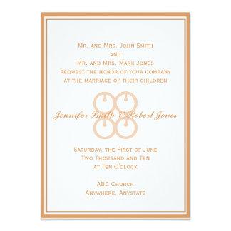 Me Ware Wo in Coral Blush 5x7 Paper Invitation Card
