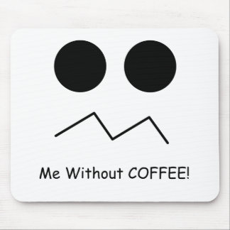 Me Without COFFEE! Mouse Pad