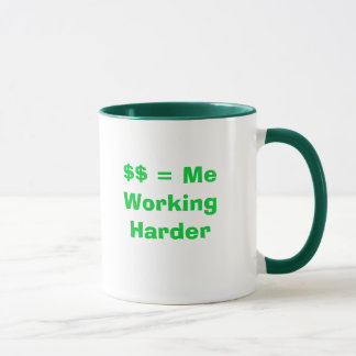 $$ = Me Working Harder Mug