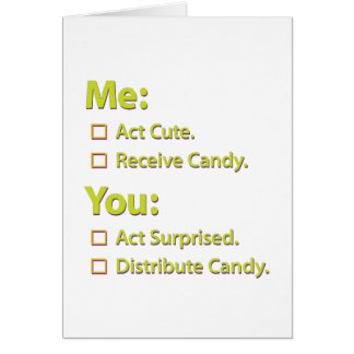 Me You Candy. Card