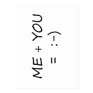 Me & You Cute design! Postcard